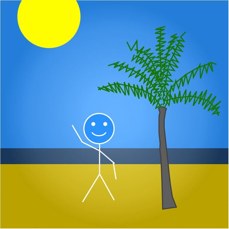 Stickman paid vacation
