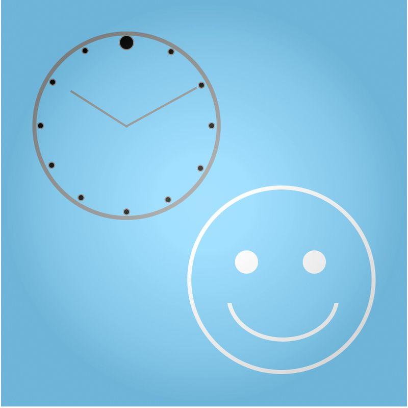 Stickman clock