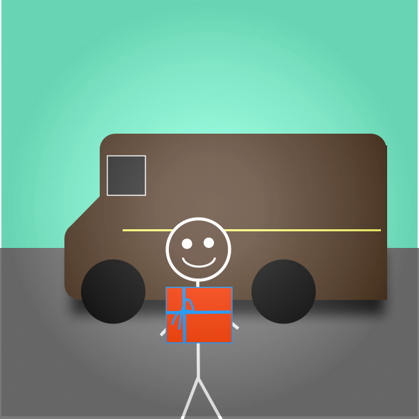 Stickman UPS Truck