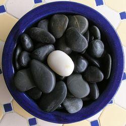 White stone among black, by Cyron