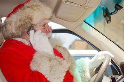 Distracted Driving Santa