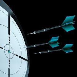 Arrows Aiming Target