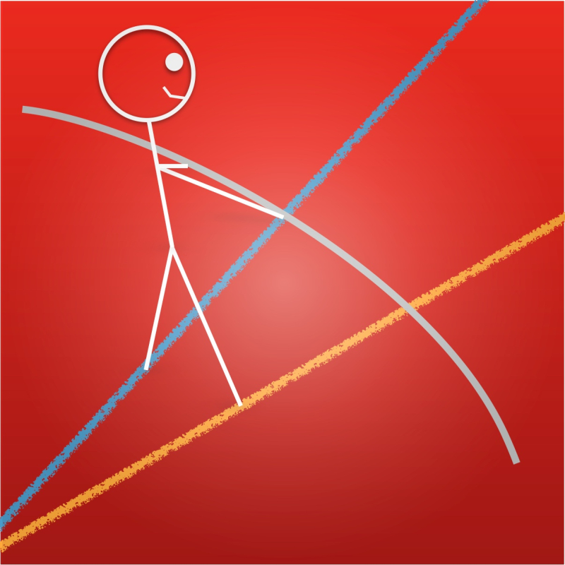 Stickman ratio tightrope