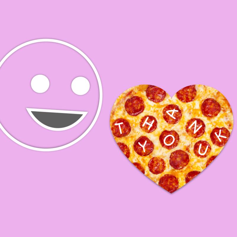 Stickman Valentine Pizza