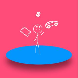 Stickman Juggling Gig Economy