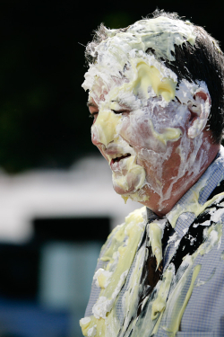 Pie throwing  by Seth Lemmons