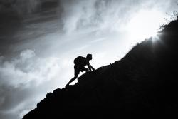 Climbing-tough-hill